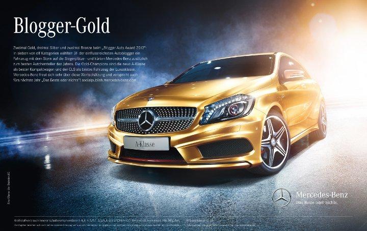 Auto Awards 2013 - Blogger-Gol Mercedes-Benz