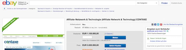 CONTAXE bei ebay - 1.5.2014