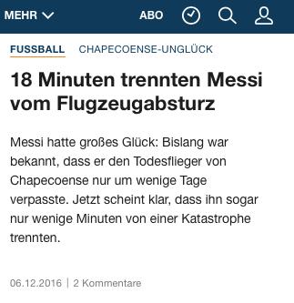 Clickbait auf welt.de - Screenshot vom 6.12.2016